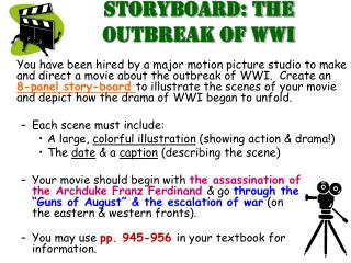 Storyboard: The Outbreak of WWI