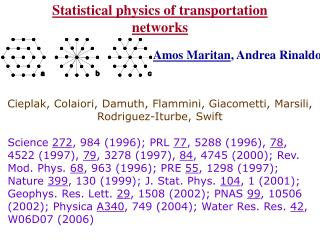 Statistical physics of transportation networks