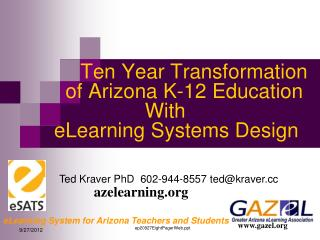 eLearning System for Arizona Teachers and Students