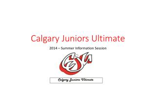 Calgary Juniors Ultimate