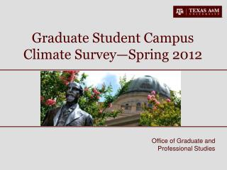 Graduate Student Campus Climate Survey—Spring 2012