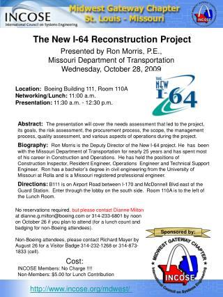 The New I-64 Reconstruction Project