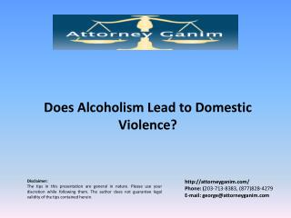 Does Alcoholism Lead to Domestic Violence?