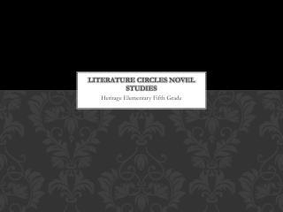 Literature circles novel studies