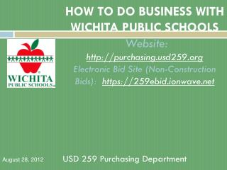 USD 259 Purchasing Department