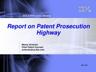Report on Patent Prosecution Highway