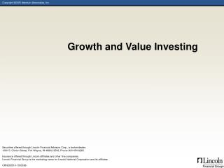 Growth and Value Investing