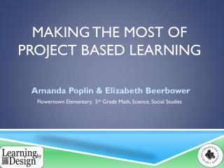 Making the most of Project Based Learning