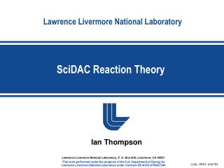 SciDAC Reaction Theory