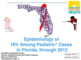 Epidemiology of  HIV Among Pediatric* Cases  in Florida, through 2012