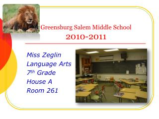 Greensburg Salem Middle School 2010-2011