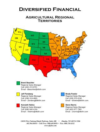 Diversified Financial Agricultural Regional  Territories
