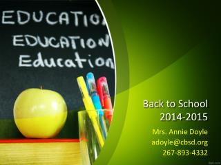 Back to School  2014-2015