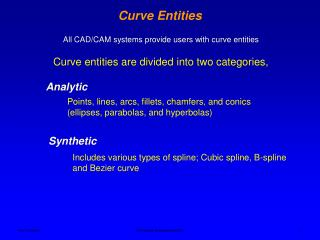 Curve Entities
