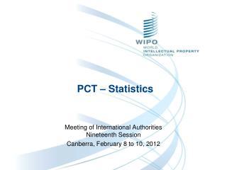PCT – Statistics