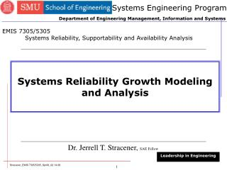 Systems Reliability Growth Modeling and Analysis