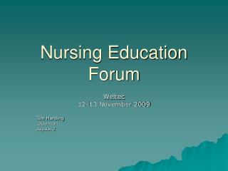 Nursing Education Forum