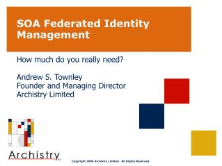 SOA Federated Identity Management