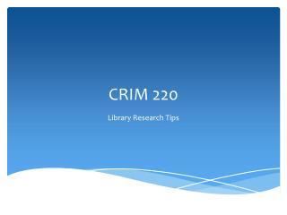 CRIM 220