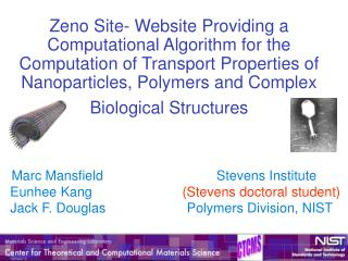 Marc Mansfield Stevens Institute Eunhee Kang (Stevens doctoral student)