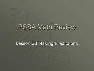 PSSA Math Review