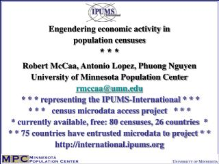 IPUMS: most complete archive of census documentation