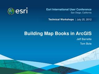 Building Map Books in ArcGIS