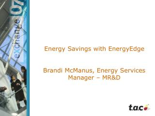 Energy Savings with EnergyEdge