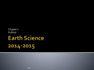 Earth Science  2014-2015
