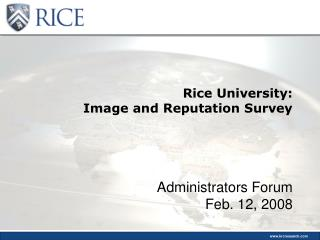 Rice University: Image and Reputation Survey