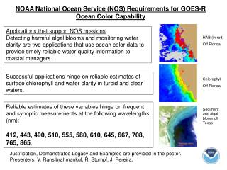 NOAA National Ocean Service (NOS) Requirements for GOES-R Ocean Color Capability