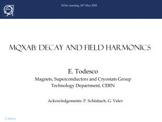 MQXAB: DECAY AND FIELD HARMONICS