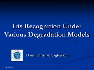 Iris Recognition Under Various Degradation Models