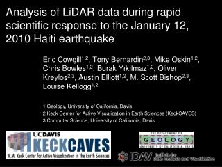 Analysis of LiDAR data during rapid scientific response to the January 12, 2010 Haiti earthquake