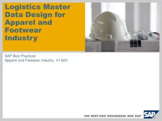 Logistics Master Data Design for Apparel and Footwear Industry