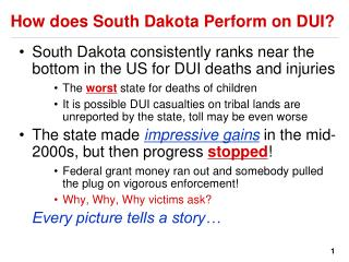 How does South Dakota Perform on DUI?