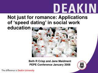 Not just for romance: Applications of 'speed dating' in social work education