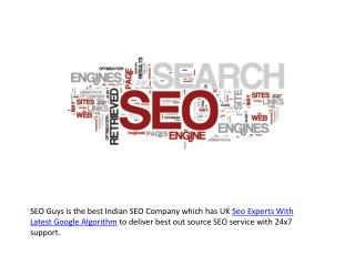 Uk Seo Experts With Latest Google Algorithm