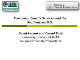 Economics, Climate Services, and the Southeastern U.S.