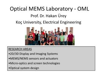 Optical MEMS Laboratory - OML