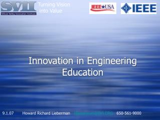 Innovation in Engineering Education