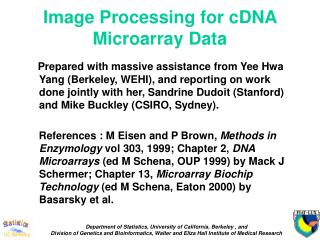Image Processing for cDNA Microarray Data
