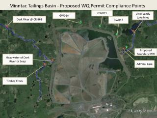 Minntac  Tailings Basin - Proposed WQ Permit Compliance  Points