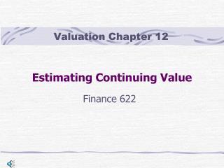 Estimating Continuing Value