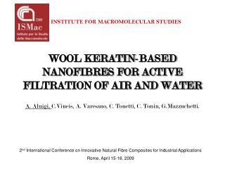 WOOL KERATIN-BASED NANOFIBRES FOR ACTIVE FILTRATION OF AIR AND WATER