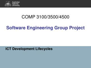 COMP 3100/3500/4500  Software Engineering Group Project