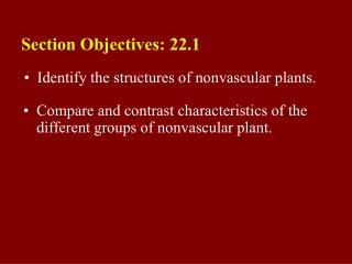 22.1 Section Objectives � page 577
