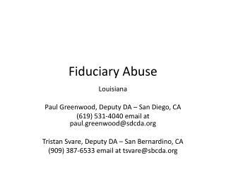 Fiduciary Abuse