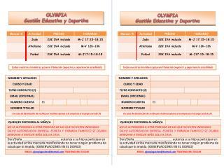 OLYMPIA  Gestión Educativa y Deportiva