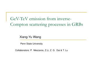 GeV-TeV emission from inverse-Compton scattering processes in GRBs